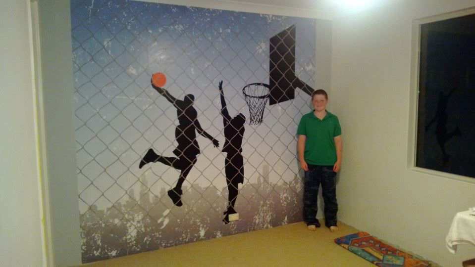 Sports Wall Murals pro art sports - streetball bballpa001