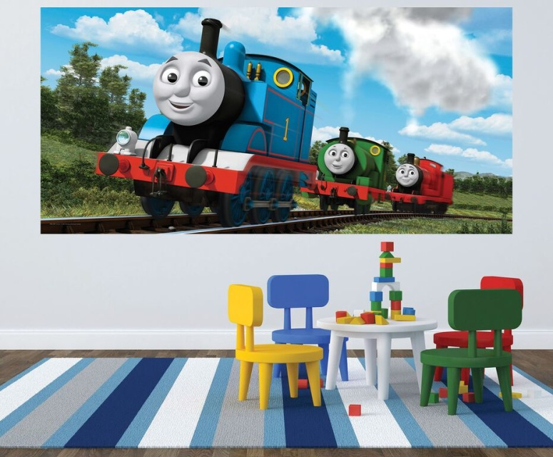 ... Exceptional Thomas The Train Wall Mural Great Pictures