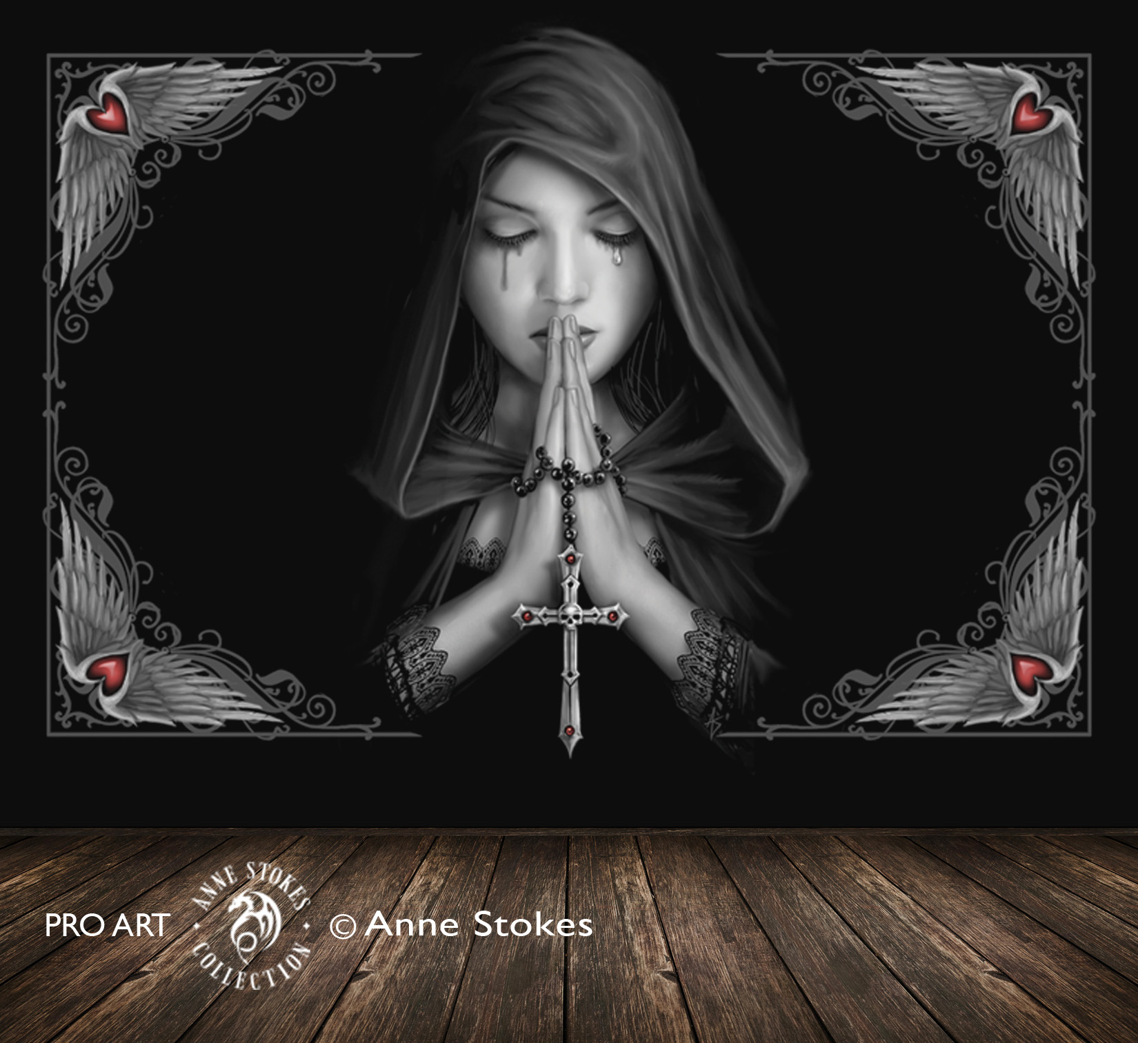 Anne Stokes Full Wall Murals > Anne Stokes - Gothic Prayer 0 GPRASW001